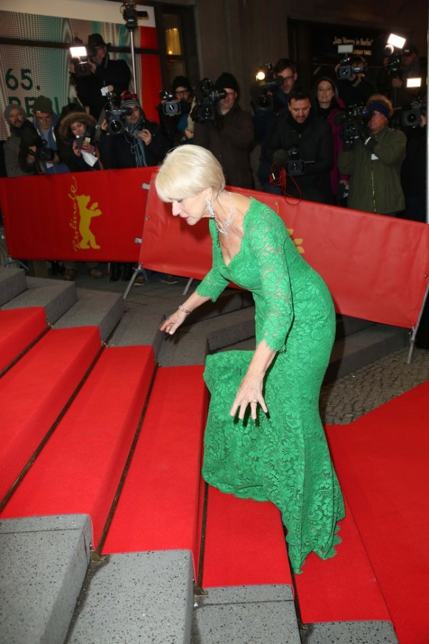 Helen Mirren attends the Woman in Gold premiere during the 65th Berlinale International Film Festival at Friedrichstadt-Palast on February 9, 2015 in Berlin, Germany Credit: Andre Mischke/face to face