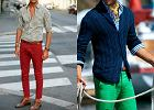 Kolorowe spodnie w trzech zestawach na co dzień