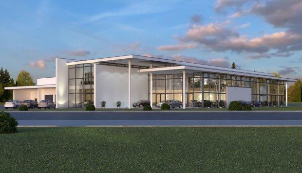 centrum luksusowych aut wyrasta nad brd� buduj� kolejny salon