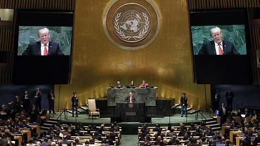 Donald Trump przemawia na forum ONZ. Nowy Jork, 25 września 2018