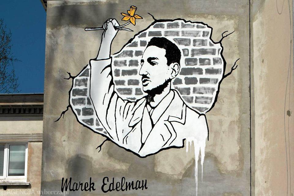 Powsta mural dla marka edelmana w ho dzie cz owiekowi for Mural ursynow