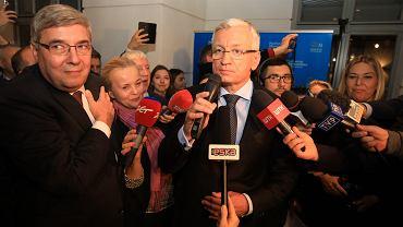 Grzegorz Ganowicz i Jacek Jaśkowiak w sztabie Koalicji Obywatelskiej