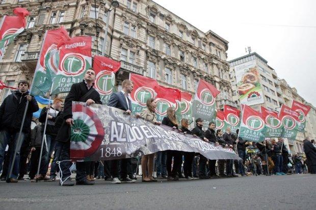 Demonstracja partii Jobbik