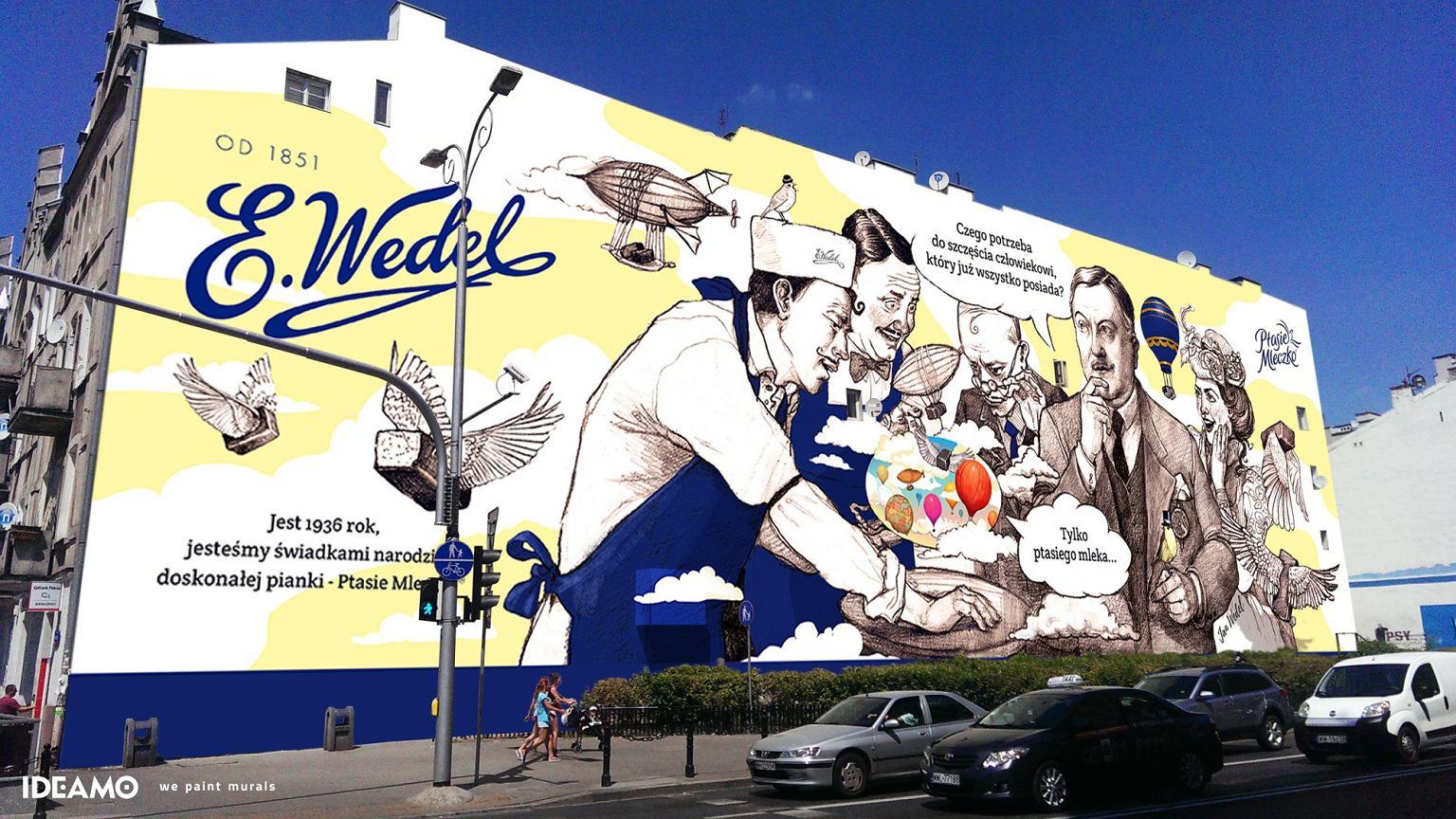 Na pradze powstaje najwi kszy mural reklamowy w europie for Mural ursynow