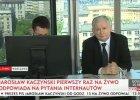 Kaczyński rozmawia z internautami: Protesty pokazują niezdolność do pogodzenia się z wynikiem wyborów