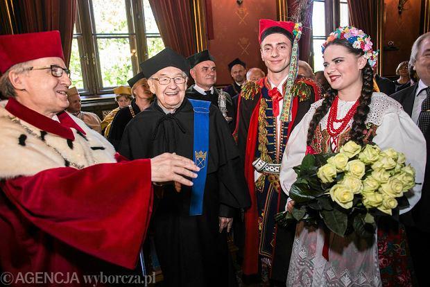 Andrzej Wajda uhonorowany przez UJ Złotym Medalem Plus Ratio Quam Vis
