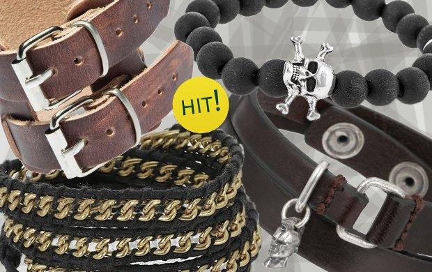 Bransoletki w rockowym stylu - to si� nosi!