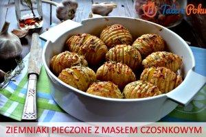�atwy przepis na ziemniaki pieczone z mas�em czosnkowym