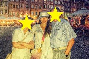 Ewa Chodakowska z rodzicami