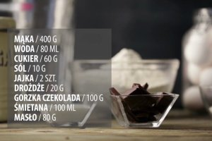 Babeczki dro�d�owe z czekolad�