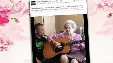 Starsza pani cierpi na Alzheimera.