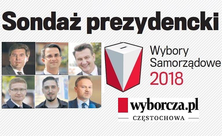 Sondaż prezydencki w Częstochowie