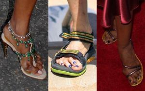 Naomi Campbell, Steven Tyler, Iman, stopy gwiazd, brzydkie stopy