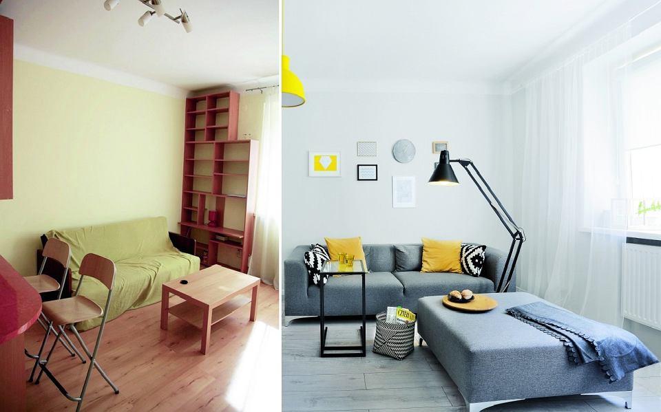 Salon przed i po