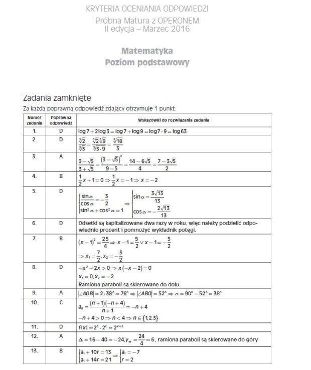 operon matura próbna 2021 matematyka