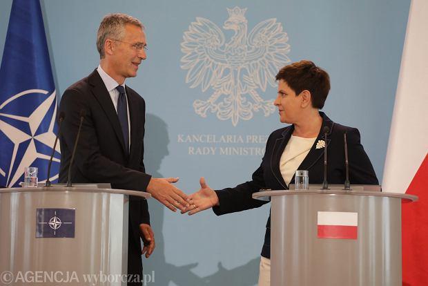 Jens Stoltenberg po spotkaniu z Beatą Szydło: Wzywam Rosję do wypełniania swoich zobowiązań w ramach dokumentu wiedeńskiego OBWE