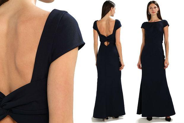 Długa sukienka z odkrytymi plecami