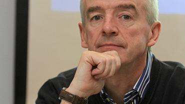 Dyrektor generalny linii lotniczych Ryanair Michael O'Leary we Wrocławiu, 28 stycznia 2015