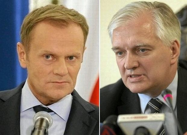 Donald Tusk i Jaros�aw Gowin