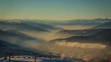 Zachód słońca w 3 Zinnen w Południowym Tyrolu