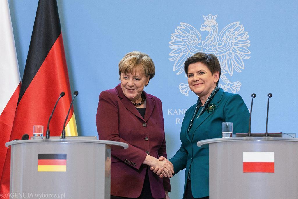 Kanclerz Niemiec Angela Merkel i premier Polski Beata Szydło