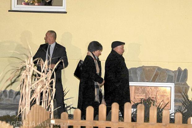 Jaros�aw Kaczy�ski po rozmowie z Viktorem Orbanem