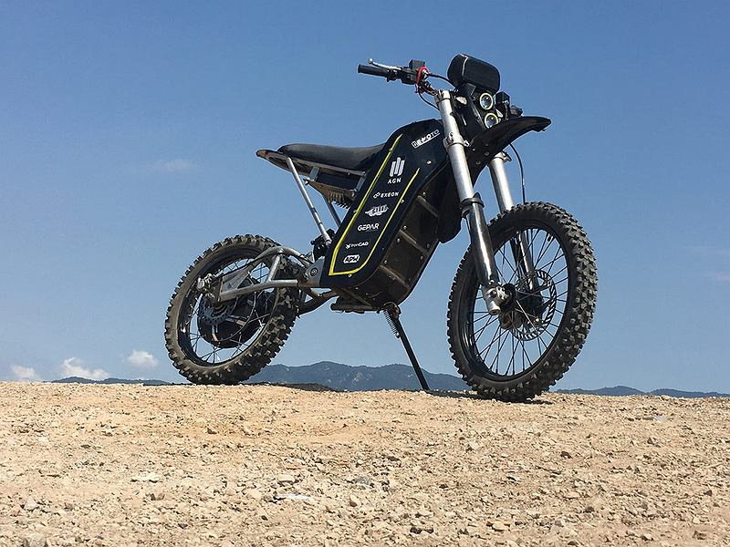 Motocykl zespołu E-MOTO AGH