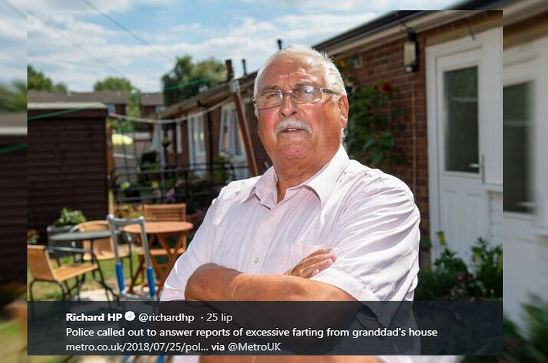 Sąsiadów oburzyły odgłosy z domu staruszka. Wezwali policję, bo za głośno puszczał bąki