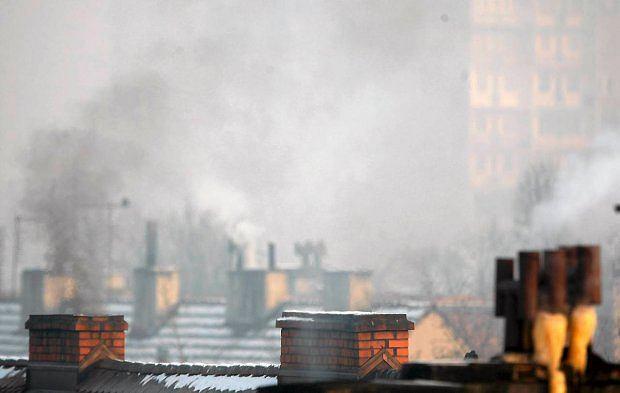 Tzw. niska emisja - dymy z przestarzałych kotłów -'śmieciuchów' opalanych węglem i 'czym popadnie'. Jedno z głównych źródeł smogu
