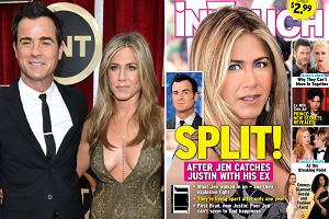 Jennifer Aniston i Justin Theroux/ okładka InTouch Weekly