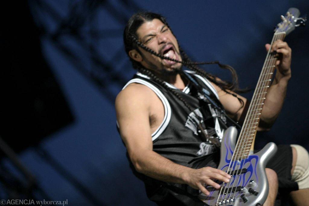 Basista grupy Metallica  Rob Trujillo / GRZEGORZ CELEJEWSKI