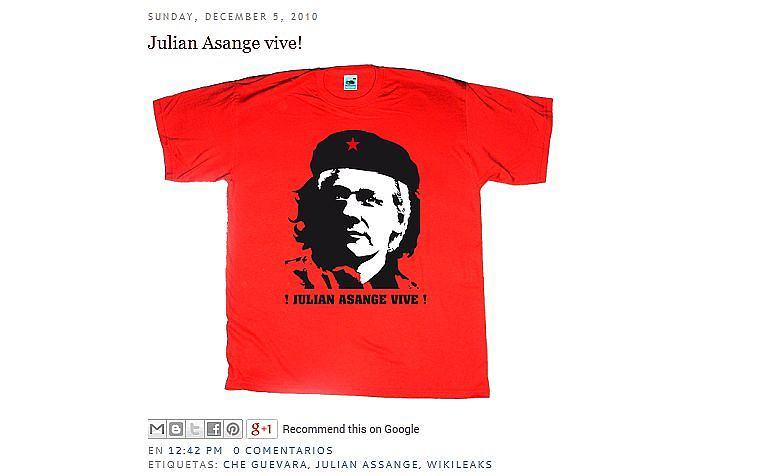 e3c28102ce18e6 Twórca Wikileaks będzie sprzedawał ciuchy. Koszulki na wzór tych z  podobizną Che Guevary