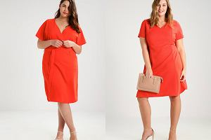 Czerwona sukienka koktajlowa dla puszystych [moda plus size]