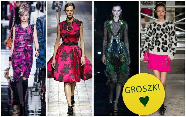 Fiolet, r� i ziele� - nie daj si� szarej zimie! 3 stylizacje w modnych kolorach