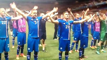 Islandzcy pi�karze ciesz� si� wraz z kibicami. NIESAMOWITE wideo!
