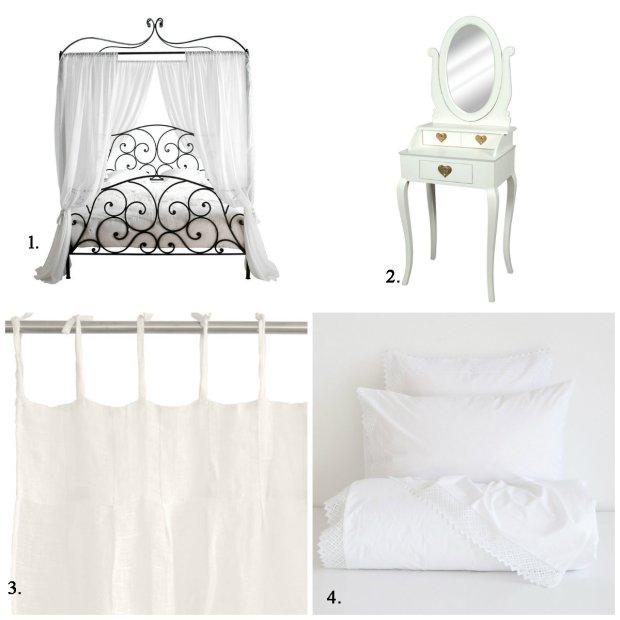 wyposażenie do sypialni, łóżka z baldachimem
