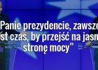 Donald Tusk podczas konferencji z Andrzejem Dud�