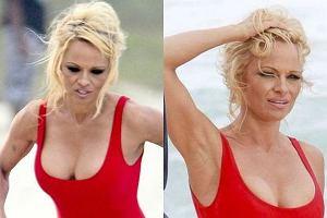 """Pamela Anderson w stroju ze """"S�onecznego patrolu"""" 20 lat p�niej! Nadal jest seksowna?"""