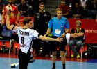Tobias Reichmann podczas meczu Niemcy - Hiszpania