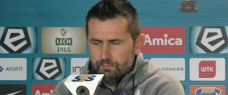 Nenad Bjelica (trener Lecha Poznań) przed meczem z Koroną Kielce