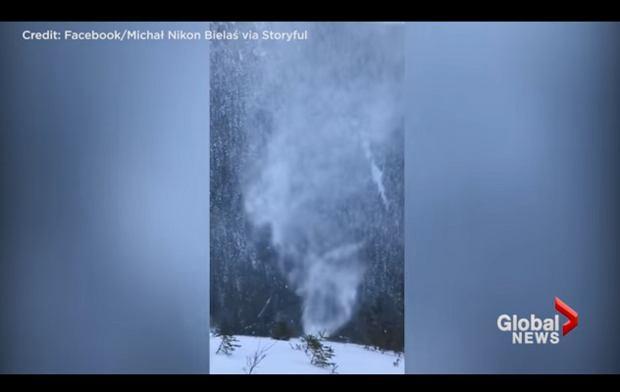 """""""Snownado"""". Niesamowite zjawisko w Tatrach [WIDEO]"""