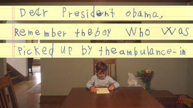 Sze�ciolatek napisa� wzruszaj�cy list do Obamy. Zaprasza r�wie�nika uchod�c� do siebie
