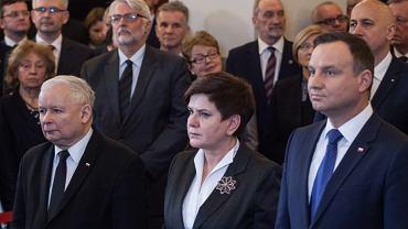 Jarosław Kaczyński, Beata Szydło i prezydent Andrzej Duda