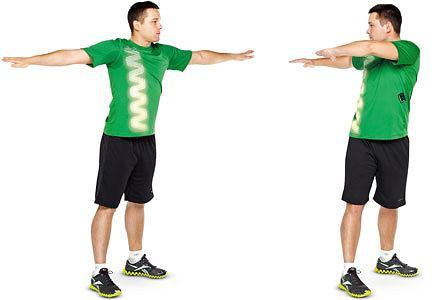 ćwiczenia, Ćwiczenia: rozgrzewka idealna, Skręty tułowia