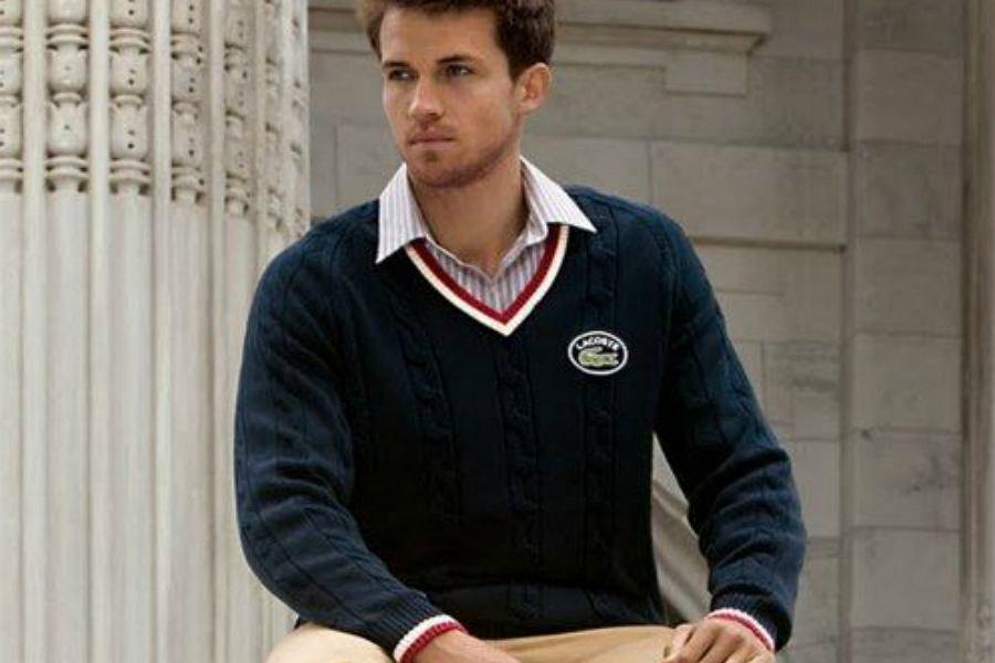 116da7cdff583 Modne swetry męskie dobrych marek: Tommy Hilfiger, Hugo Boss i Lacoste