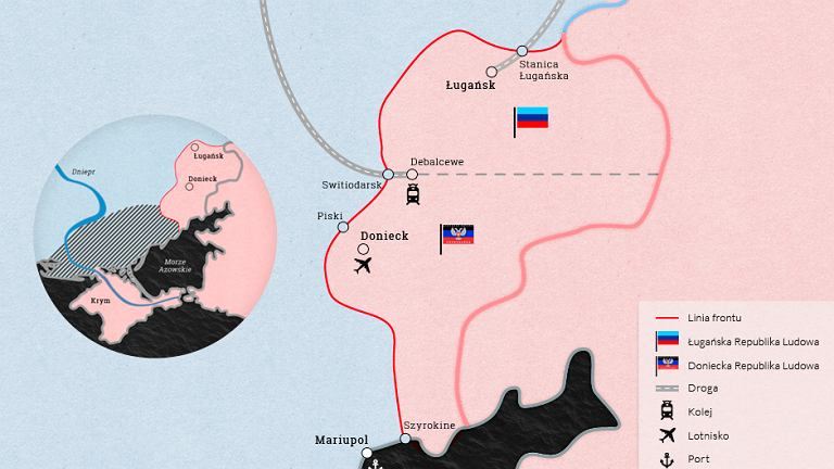Terytorium konfliktu na Ukrainie