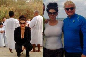 Iwona W�growska z m�em w Izraelu