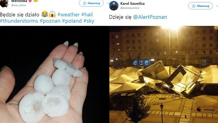 Burze na zdjęciach, któymi mieszkańcy Wielkopolski dzielili się w mediach społecznościowych