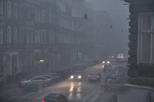 Ulewa i burza w centrum Szczecina