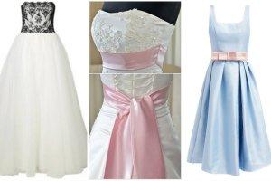 Suknie ślubne z kolorowymi akcentami